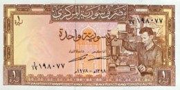 Syria 1 Pound, P-93d (1978) - UNC - Siria