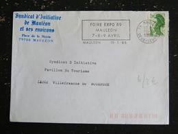 MAULEON - DEUX SEVRES - FLAMME FOIRE EXPO 1989 SUR LIBERTE GANDON - Marcophilie (Lettres)