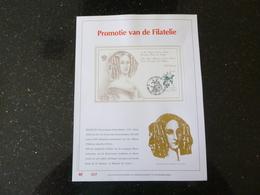 """BELG.1990 2355=BL66 """" FILATELIE """" NL.Luxe Kunstblad Geslagen In Fijn Goud 23 Karaat , 500 Exemplaren - FDC"""