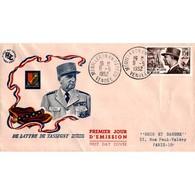 FDC - Le Maréchal De Lattre De Tassigny - 9/5/1952 Mouilleron En Pareds - 1950-1959