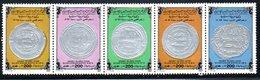 Libye. 1984. N° 1296/1300 ** Monnaies Islamiques, Dirhams D'argent. 5 Valeurs. - Libya