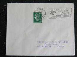 MELLE - DEUX SEVRES - FLAMME CITE ROMANE EN POITOU SUR MARIANNE CHEFFER - Mechanical Postmarks (Advertisement)