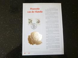 """BELG.1990 2353/5354 : """" FILATELIE """" NL.Luxe Kunstblad Geslagen In Fijn Goud 23 Karaat , 500 Exemplaren - FDC"""