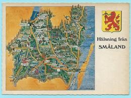 1765 - ZWEDEN - SUEDE - SVERIGE - SMALAND - MAP - Cartes Géographiques