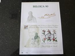"""BELG.1990 2370/2375 = BL67 : """" FILATELIE """" NL.Luxe Kunstblad Geslagen In Fijn Goud 23 Karaat , 500 Exemplaren - FDC"""