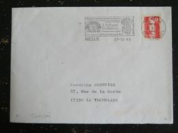MELLE - DEUX SEVRES - FLAMME 3 EGLISES ROMANES CHEMIN BOTANIQUE SUR MARIANNE BRIAT - Mechanical Postmarks (Advertisement)