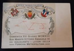 Société Franco-Italienne Du Chemin De Fer Métropolitain De Naples - Chemins De Fer