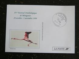 MENIGOUTE - DEUX SEVRES - CACHET COMMEMORATIF 15eme FESTIVAL FILM ORNITHOLOGIQUE 1999 FLAMANT ROSE OISEAU BIRD - Marcophilie (Lettres)