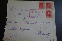 Lettre Censurée De SAN SEBASTIAN Pour Biarritz 1938 - Nationalists Censor Marks