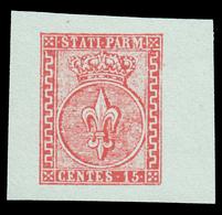Parma: Giglio Borbonico Sormontato Da Corona Ducale 15 C. Vermiglio - 1853/55 - Parma