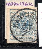 """Österreich,1850, Freimarke 9 Kr.,  MiNr.5,Stempel """"Kardasrecic""""/ Böhmen (17924E) - Used Stamps"""