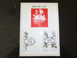 "BELG.1990 2370 2371 2372 2373 2374 2375 FDC's Filatelic Card  : "" Belgica 90 "" - FDC"