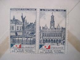 France 1936 Enveloppe Cover Vignettes Société Française De Secours Blessés Militaires Us USA - Militärmarken