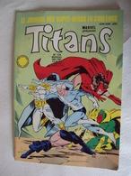 """BD- Mai 1989 - Marvel """"  TITANS N° 124 """"  Petites Tâches Dues à L'année -mots Croisés Neufs- Net 2.50 En état - Titans"""