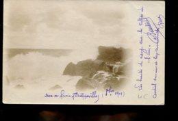 Philippeville : Mer En Furie (scan Resto Verso) - Skikda (Philippeville)