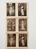Ancienne Carte Postale Cpa Lot De 3 Théâtre Des Prisonniers De Guerre Du Camp De Dülmen - War 1914-18