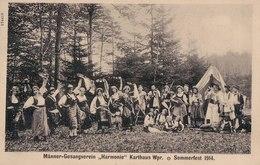 "Männer-Gesangverein ""Harmonie"" Karthaus Wpr., Sommerfest 1914, Adlofshöhe. (Kartuzy, Kartuzë, Powiat Kartuski). - Pologne"