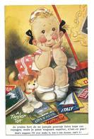 """Petite Fille Rêveuse, Brochures De Voyage, Petit Chien: """"Je Crains Fort De Ne Jamais Pouvoir Faire Tous Ces Voyages... """" - Taylor"""