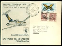 Brasil 1971 First Flight VC-10 British Caledonian Sao Paulo - Rio De Janeiro - Casablanca - Posta Aerea