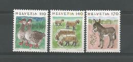 Switzerland 1995 Animals Y.T. 1491/1493  ** - Switzerland