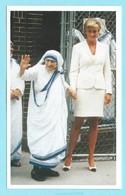 1768 - MOTHER TERESA & PRINSES DIANA - SMALL PRAYER-CARD (7.5cm X 12 Cm) - FOTOGRAFIE - Berühmt Frauen
