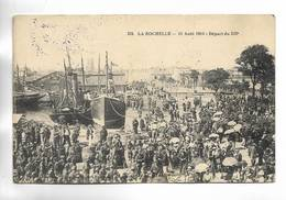 17 - LA ROCHELLE - 11 Août 1914 - Départ Du 323°. Cachet Militaire Au Verso - La Rochelle