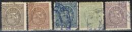 Sellos Telegrafos FILIPINAS 1894 Colonia Española, Num 48-49-51-52-53 º - Philippines