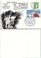 ENTIER POSTAL SABINE GANDON 0.80 + 1.00 - ROLAND GARROS FFT FLAMME ANNONCE 1er JOUR - PARIS 10.3.78   / 6 - AK Mit Aufdruck (vor 1995)