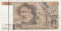 100 FRANCS DELACROIX-1989-M156-FLOU-VOIR SCANNER - 1962-1997 ''Francs''