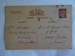 CPA 18 Lignières  Pré-timbrée 0,90 Francs - Carte Exclusivement Réservée à La Correspondance Familiale - 1941 - Unclassified