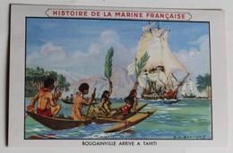 Série De 11 Chromos Histoire De La Marine Française Peintre De La Marine E. De Bertier Cirage Lion Noir Bateau Navire - Sonstige