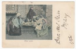 Diner Arabe / Color Gel.1905 Ägypten - Personen