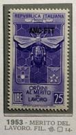 TRIESTE AMG-FTT 1953  LAVORO  MNH SPLENDIDA E PERFETTA - Mint/hinged
