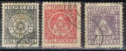 Lote 3 Sellos  Correo Insurrecto FILIPINAS Colonia Española Revolucionario 1899 º - Filipinas