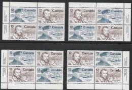 CANADA 1977 SCOTT 738-739 CORNER BLOCKS SET - 1952-.... Reign Of Elizabeth II