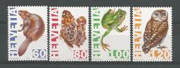 Switzerland 1995 Fauna Y.T. 1472/1475 ** - Switzerland