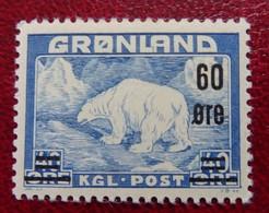 #79# GREENLAND MICHEL 37, YVERT 28 MNH**. POLAR BEAR. - Neufs