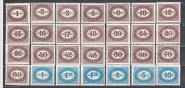 Austria 1947 - Portomarken: Ziffernzeichnung, Mi-Nr. Porto 204/31, MNH** - 1945-60 Unused Stamps