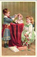 1 Litho 1890' PUB Card Pharmacy Druggist Dr. Schenck's Pulmonic Syrup Dolls Harlequin Toys, Pills Tonic Quack Charletan - Equipo Dental Y Médica