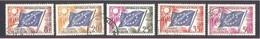 Conseil De L' Europe.  Drapeau Du Conseil -1958- 1959 - 5 Valeurs Oblitérées. Y&T N° 17 à 21. - Oblitérés