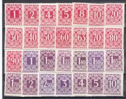 Austria 1949 - Portomarken: Ziffernzeichnung Im Zierrahmen, Mi-Nr. Porto 232/59, MNH** - 1945-.... 2nd Republic