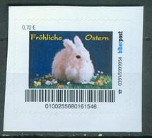 Biber Post Fröhliche Ostern (Weißer Hase Mittig (70) G1013 - Private & Local Mails