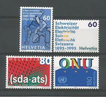 Switzerland 1995 Anniversaries Y.T. 1468/1471 ** - Switzerland