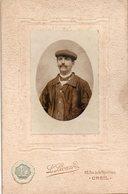 Photo Ancienne Sur Carton D'un Maquignon ? Marchand De Chevaux - Photo Léonard à Creil - Oud (voor 1900)