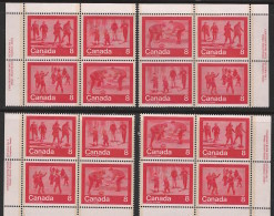 CANADA 1974 SCOTT 644-47**  PLATE BLOCK SET - Blocks & Sheetlets
