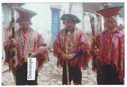 PEROU - CUZCO ?? Costumes Traditionnels,(dans Les Années 1970/80 - Photo 15.2 X 10.2 Environ - Places