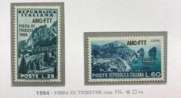 TRIESTE AMG-FTT 1954  FIERA TRIESTE  MNH SPLENDIDA E PERFETTA - Mint/hinged