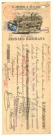 Magnifique Mandat  Illustré Train MONS Cartes à Jouer Léonard BIERMANS Grosse Barbe TP 76 Obl 1 XII 1909 - 1905 Grosse Barbe