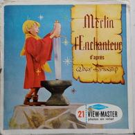 VIEW MASTER  : MERLIN L'ENCHANTEUR  B 316  :  POCHETTE DE 3 DISQUES - Visionneuses Stéréoscopiques