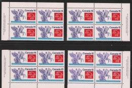 CANADA 1974 SCOTT 649**  PLATE BLOCK SET - Blocks & Sheetlets